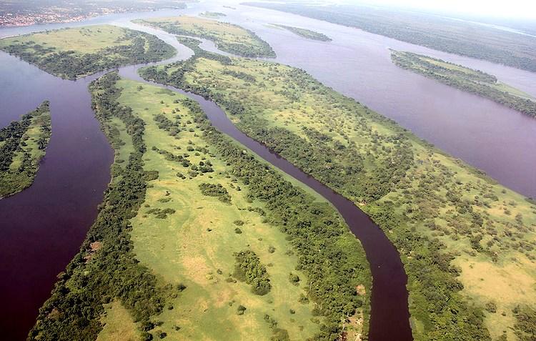 Река Конго (Заир) в Африке