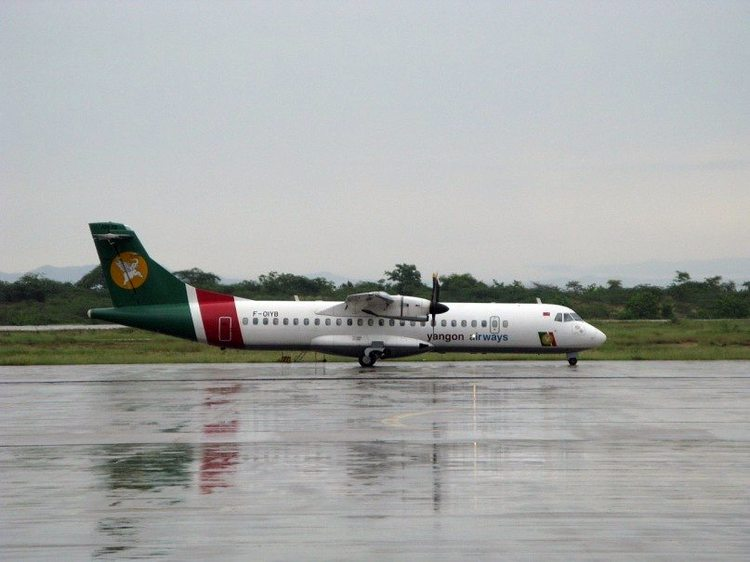 ATR-72 Yangon Airways в янгоне